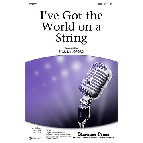 Shawnee Press I've Got the World on a String Studiotrax CD by Bing Crosby Arranged by Paul Langford-thumbnail