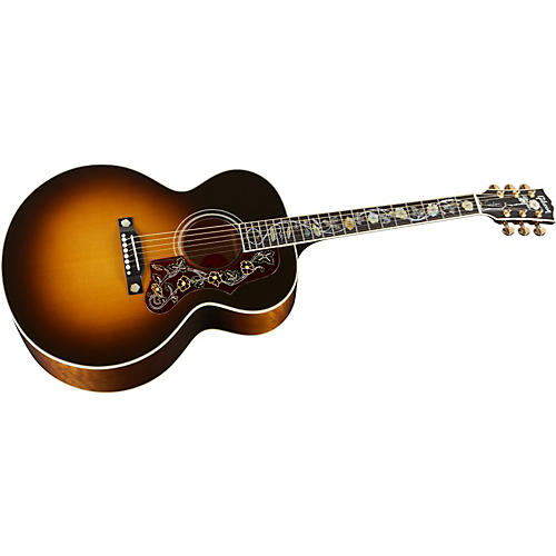 Gibson J-185 Custom Quilted Maple with Vine Inlay Acoustic Guitar