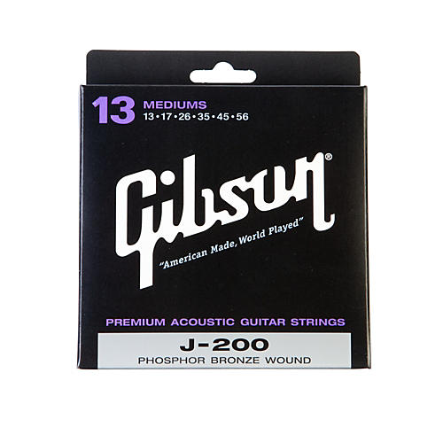 Gibson J-200 Deluxe Phosphor Bronze Acoustic Guitar Strings - Medium
