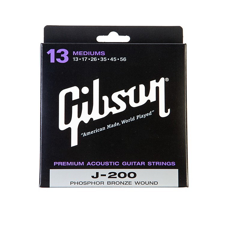 GibsonJ-200 Deluxe Phosphor Bronze Acoustic Guitar Strings - Medium