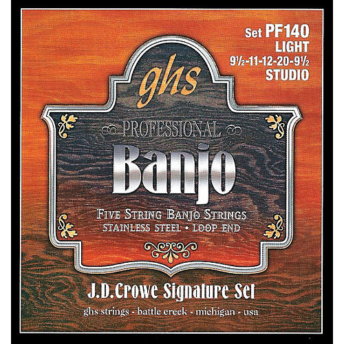 GHS J. D. Crowe Studio Signature 5-String Banjo Strings Light-thumbnail