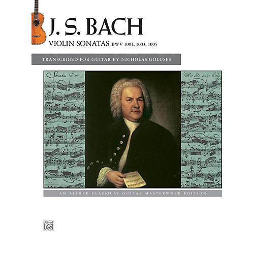 Alfred J.S. Bach - Violin Sonatas BWV 1001, 1003, 1005 Guitar Book-thumbnail