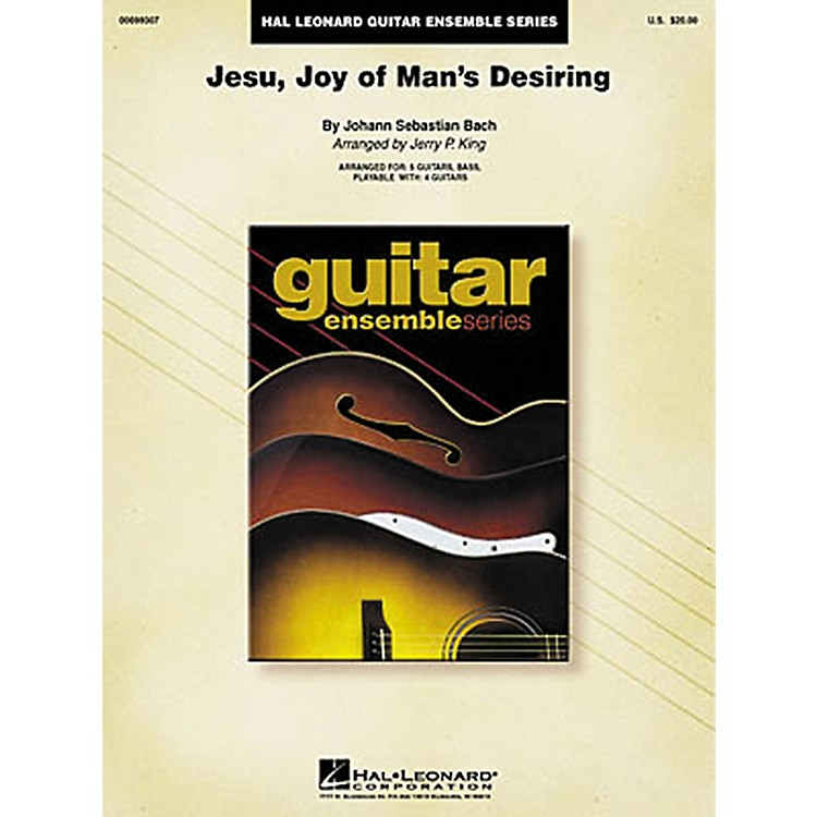Hal Leonard J.S. Bach Jesu Joy of Man's Desiring Guitar Ensemble Score