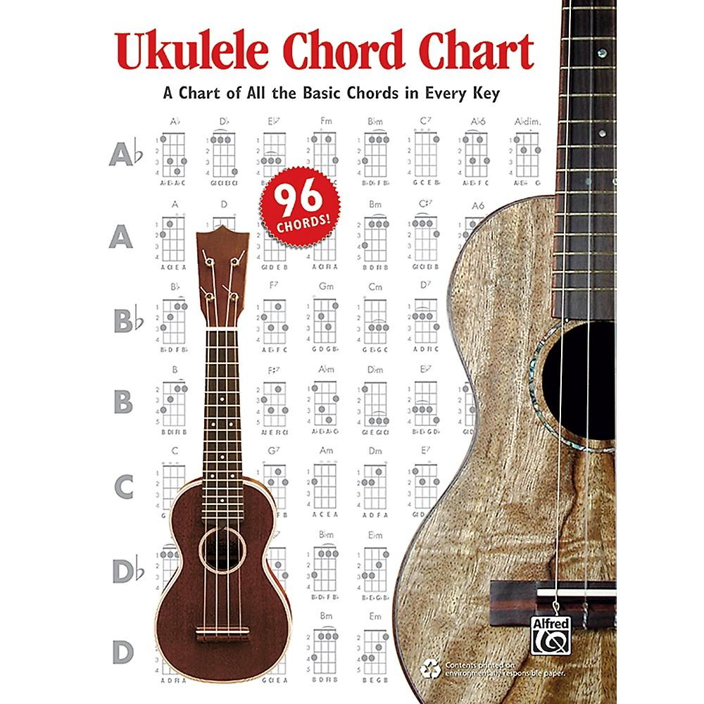 Alfred Ukulele Chord Chart 1470610116 : eBay