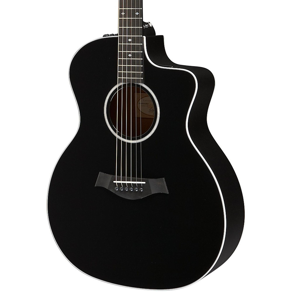 Taylor 214ce Deluxe Grand Auditorium Cutaway Acoustic-Electric Guitar Black