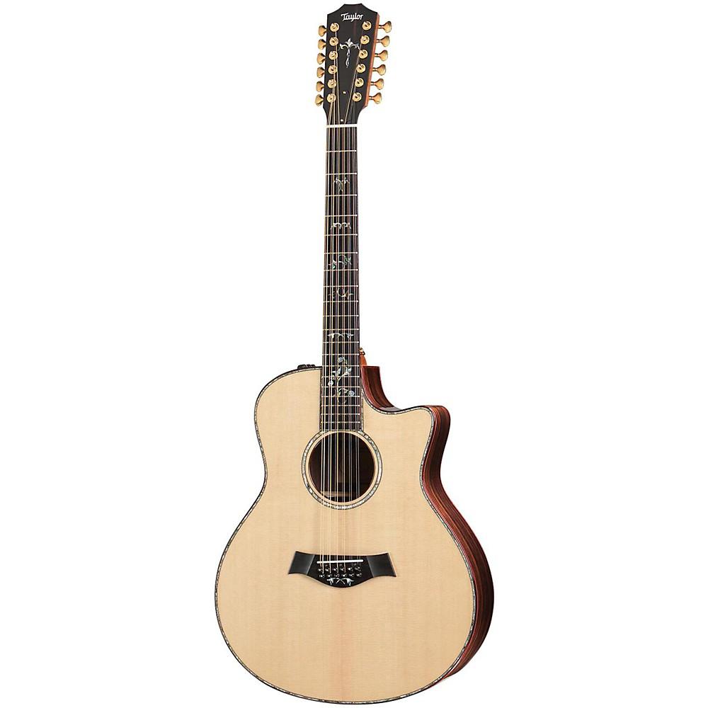 taylor 956e 12 string grand symphony es2 acoustic electric guitar natural ebay. Black Bedroom Furniture Sets. Home Design Ideas