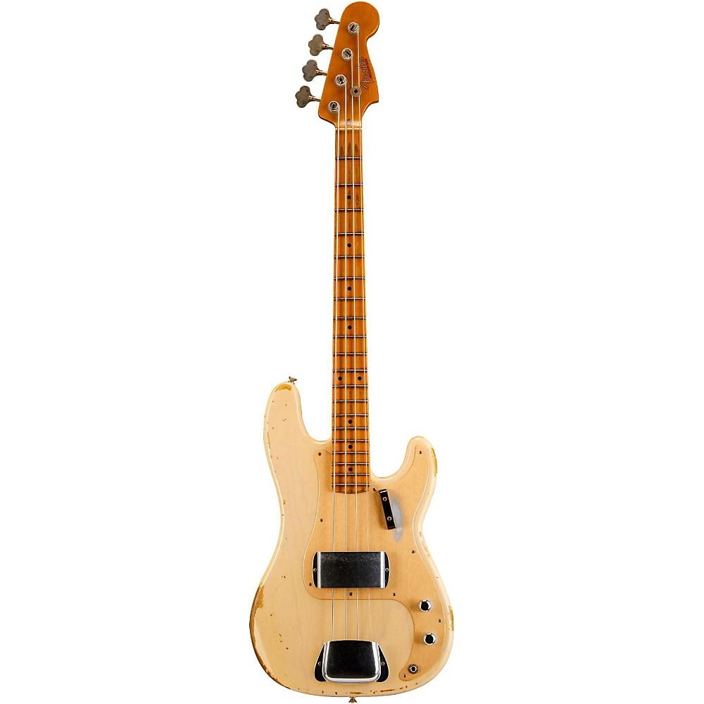 fender 1957 precision bass heavy relic electric bass guitar vintage blonde ebay. Black Bedroom Furniture Sets. Home Design Ideas