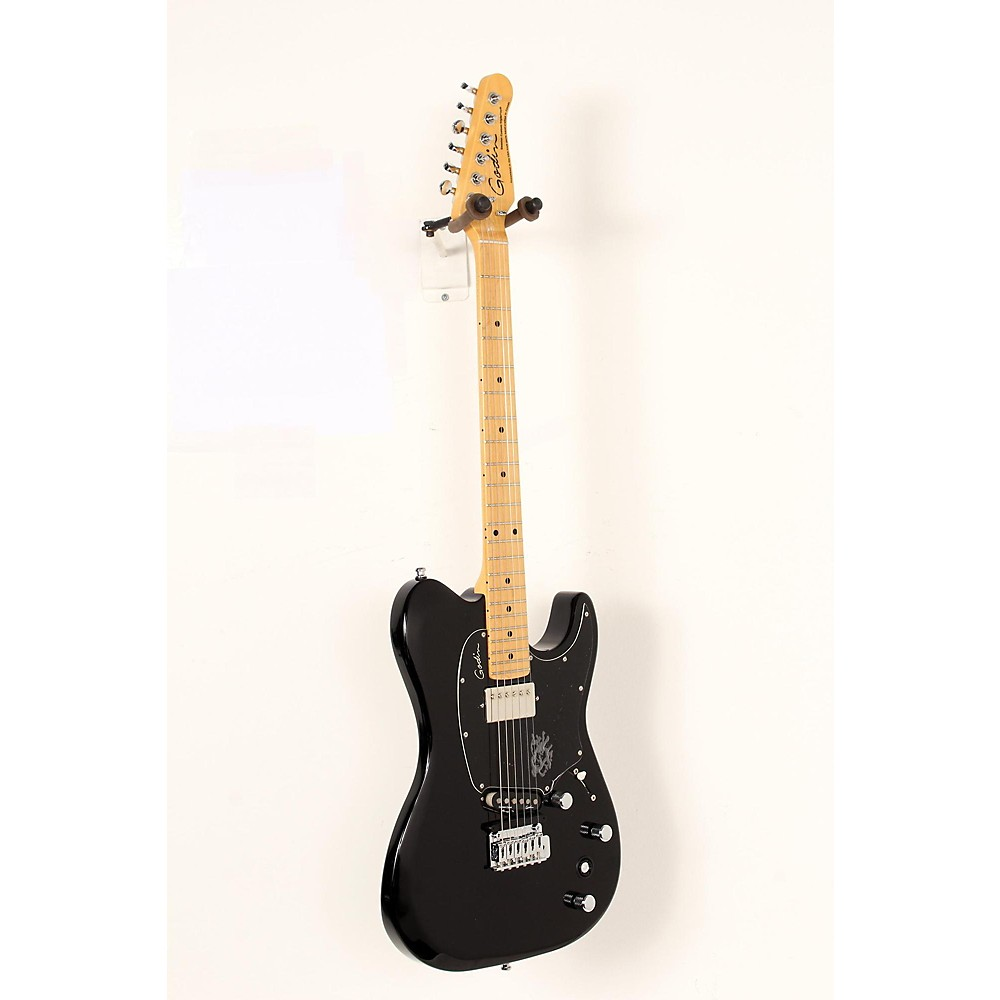 godin session custom tripleplay electric guitar black maple fb 190839021342 ebay. Black Bedroom Furniture Sets. Home Design Ideas