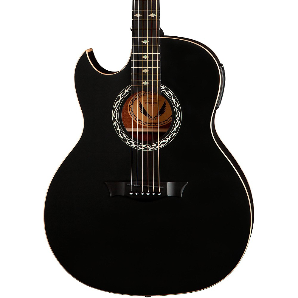 acoustic dean exhibition left handed acoustic electric guitar with aphex black satin was. Black Bedroom Furniture Sets. Home Design Ideas