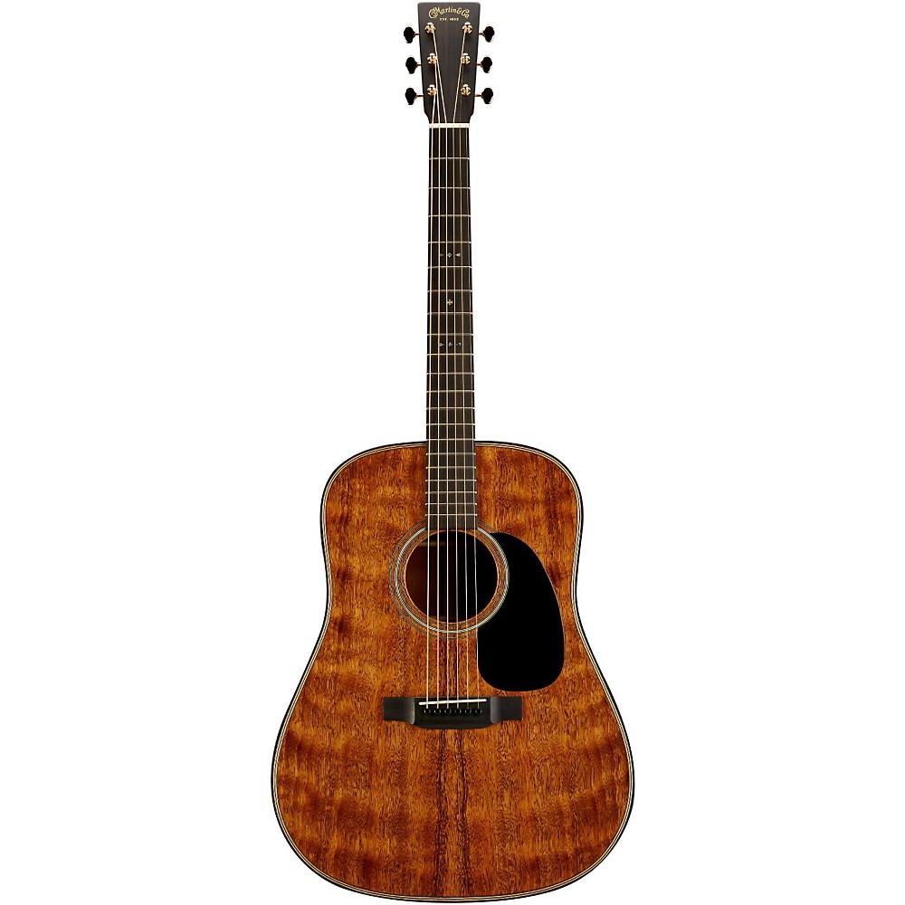 martin custom d 18 all quilted mahogany acoustic guitar natural ebay. Black Bedroom Furniture Sets. Home Design Ideas