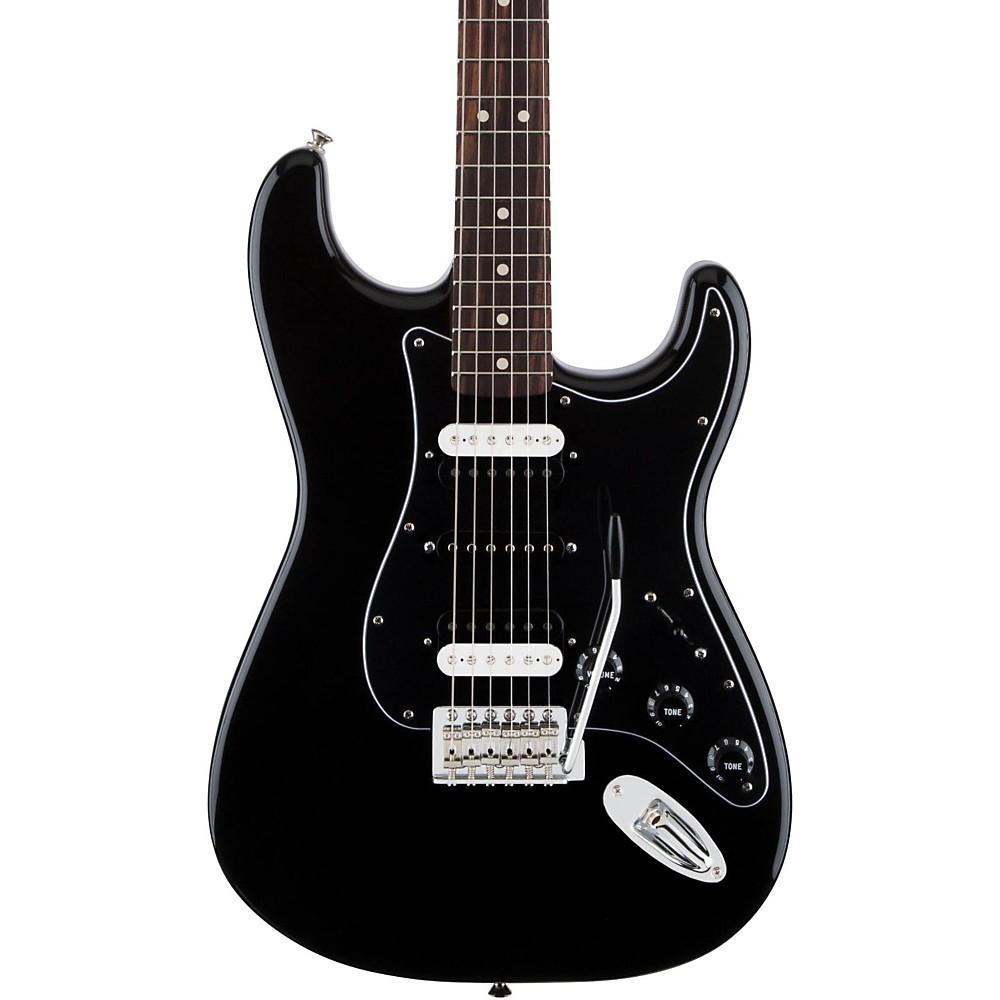 fender standard stratocaster hsh rosewood fingerboard electric guitar black ebay. Black Bedroom Furniture Sets. Home Design Ideas