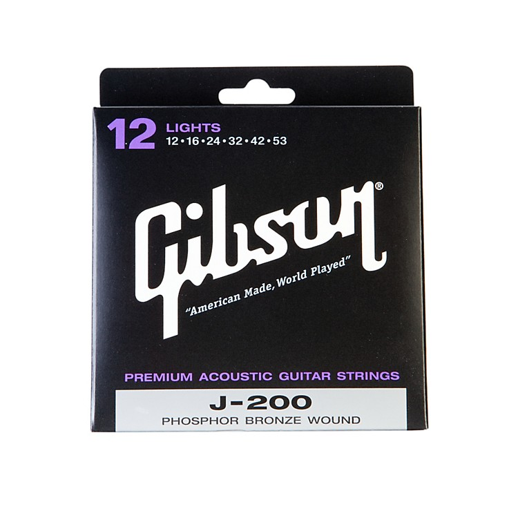 Gibson J200L Deluxe Phosphor Bronze Light Acoustic Guitar Strings