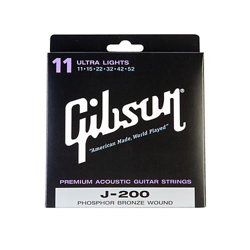 Gibson J200UL Deluxe Phosphor Bronze Ultra Light Acoustic Guitar Strings