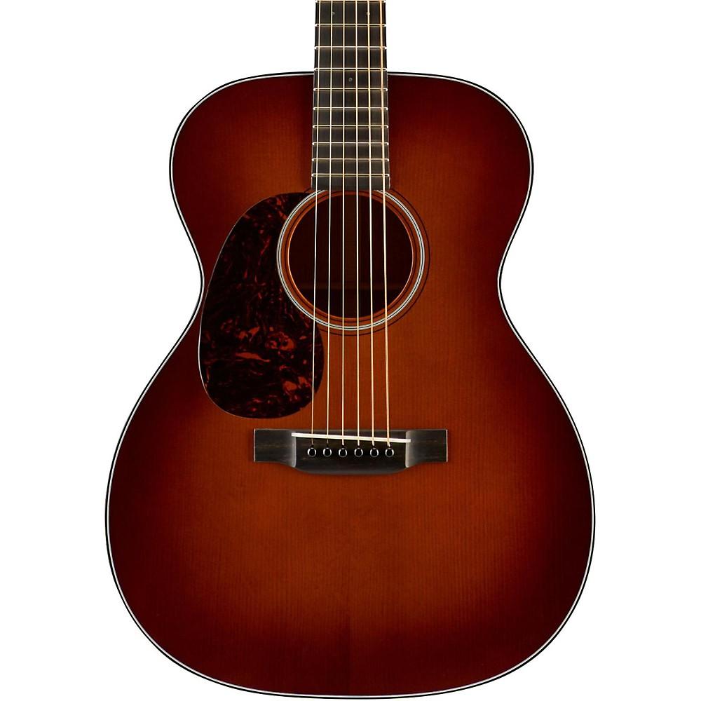 martin om 18 authentic series 1933 with vts left handed acoustic guitar natural ebay. Black Bedroom Furniture Sets. Home Design Ideas