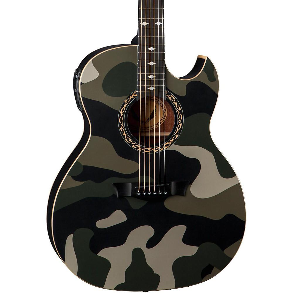 dean exhibition acoustic electric guitar camouflage ebay. Black Bedroom Furniture Sets. Home Design Ideas