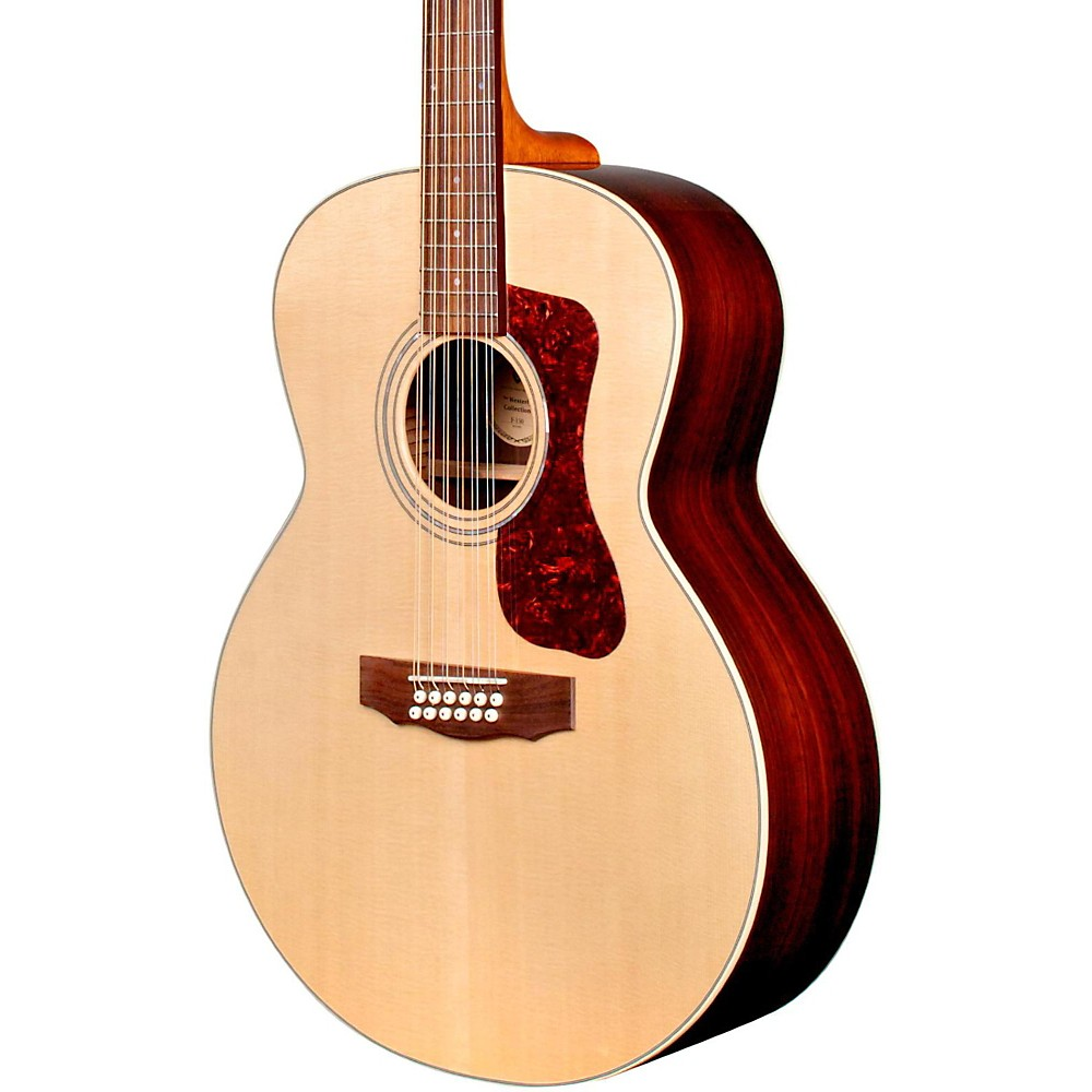 guild f 1512e 12 string acoustic electric guitar natural ebay. Black Bedroom Furniture Sets. Home Design Ideas