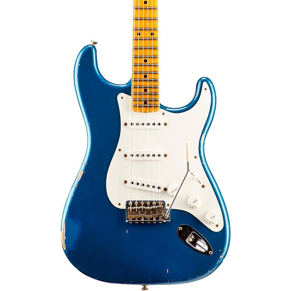 fender custom shop 1955 relic stratocaster electric guitar aged lake placid blue ebay. Black Bedroom Furniture Sets. Home Design Ideas