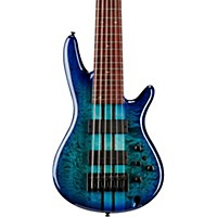 Ibanez ANB306E Adam Nitti Signature 6-String Electric Bass Guitar Blue Burst