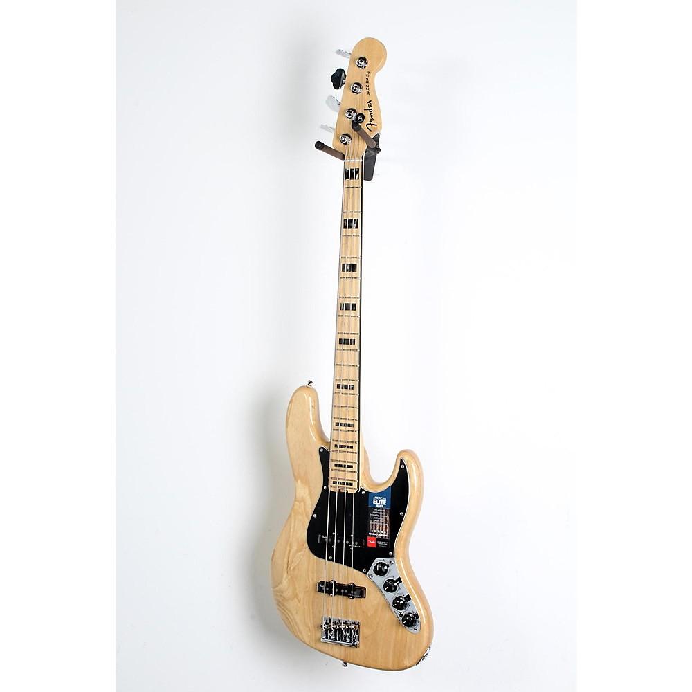 Used Fender American Elite Jazz Bass Natural 190839064646 -  USED005007 0197002721