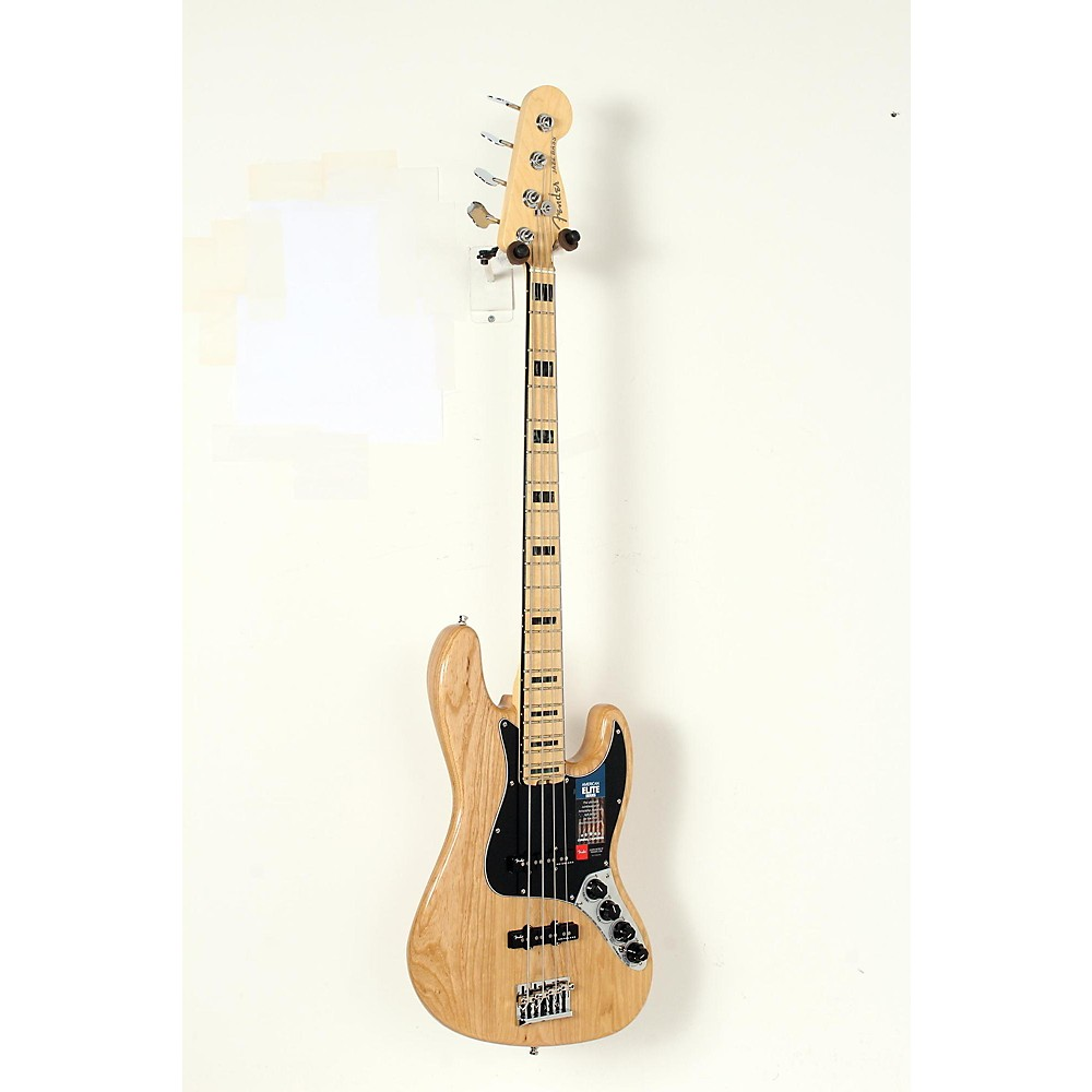 Used Fender American Elite Jazz Bass Natural 190839081391 -  USED005008 0197002721