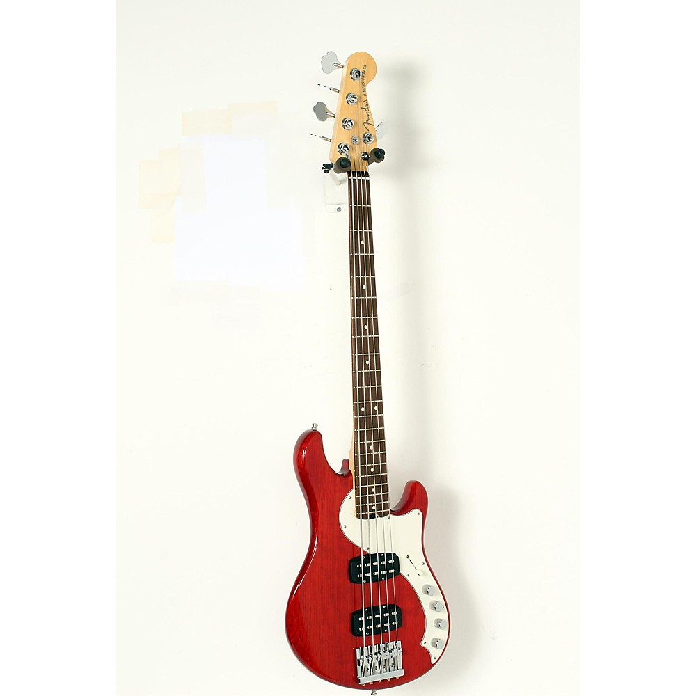 Used Fender American Elite Dimension Bass V Hh, Rosewood, Electric Bass Guitar Cayenne Burst 190839048837 -  USED005003 0193000728