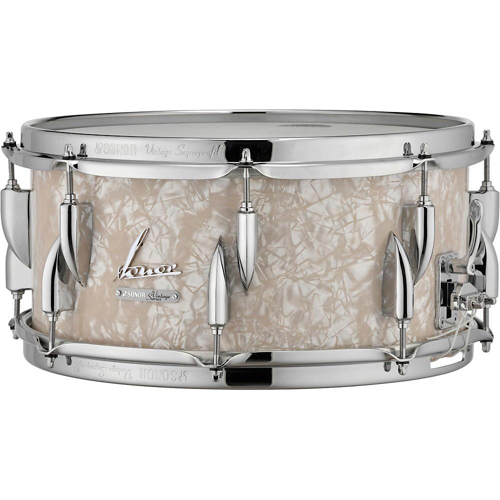 sonor vintage series snare drum 14 x 6 5 in vintage pearl ebay. Black Bedroom Furniture Sets. Home Design Ideas