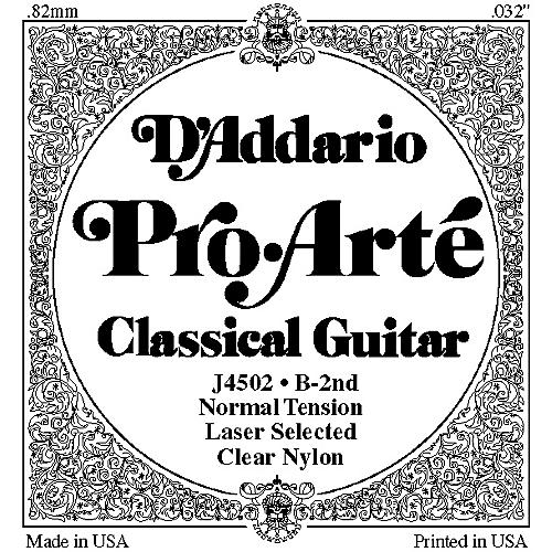 D'Addario J45 B-2 Pro-Arte Clear Normal Single Classical Guitar String