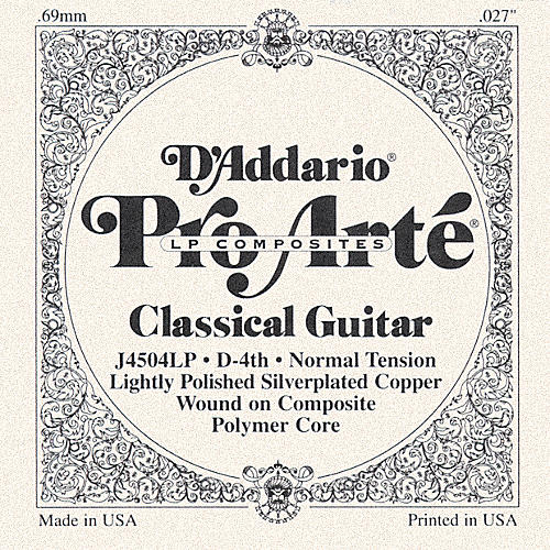 D'Addario J45 D-4 Pro-Arte Composites Normal LP Single Classical Guitar String