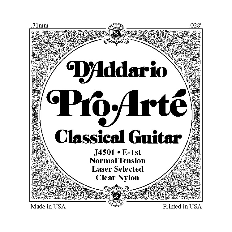 D'Addario J45 E-1 Pro-Arte Clear Normal Single Classical Guitar String