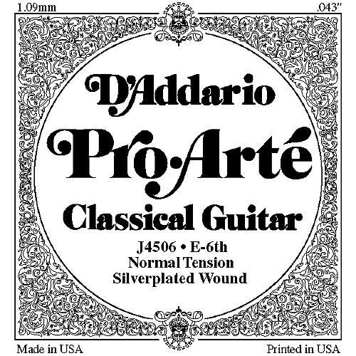 D'Addario J45 E-6 Pro-Arte Composite Normal LP Single Classical Guitar String-thumbnail