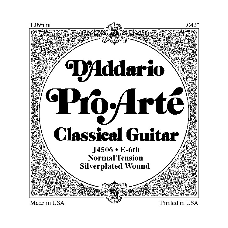D'AddarioJ45 E-6 Pro-Arte Composite Normal LP Single Classical Guitar String
