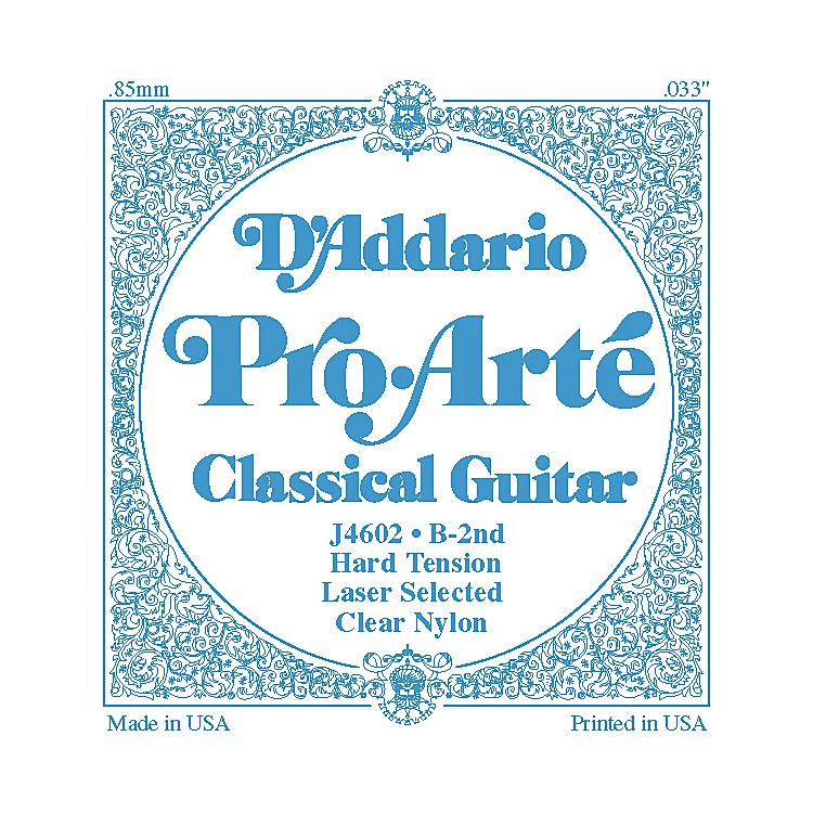 D'Addario J46 B-2 Pro-Arte Clear Hard Single Classical Guitar String