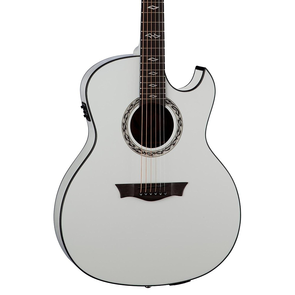 Dean Exhibition Ultra Acoustic-Electric Guitar With Usb Classic White