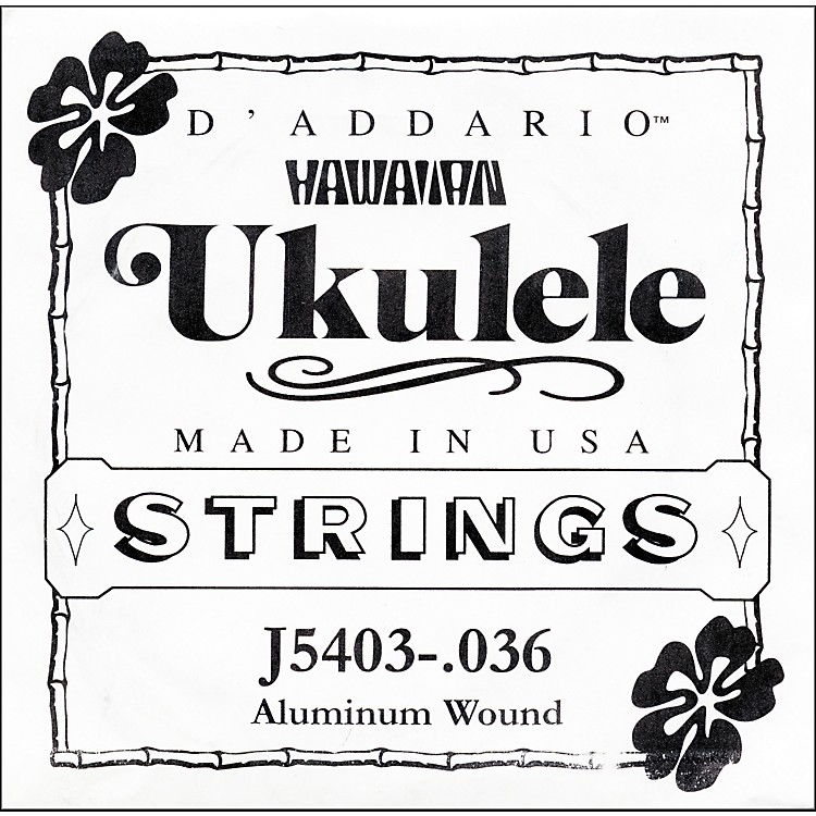 D'Addario J5403 Aluminum Wound Single Ukulele String