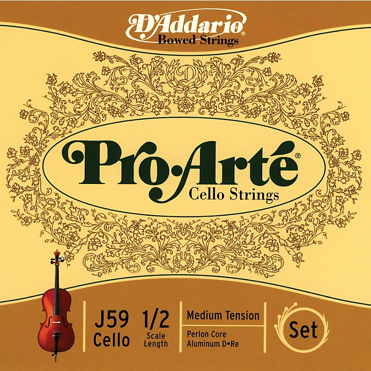 D'Addario J59 Pro-Arte 1/2 Size Cello String Set