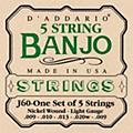 D'Addario J60 5-String Banjo Strings  Thumbnail
