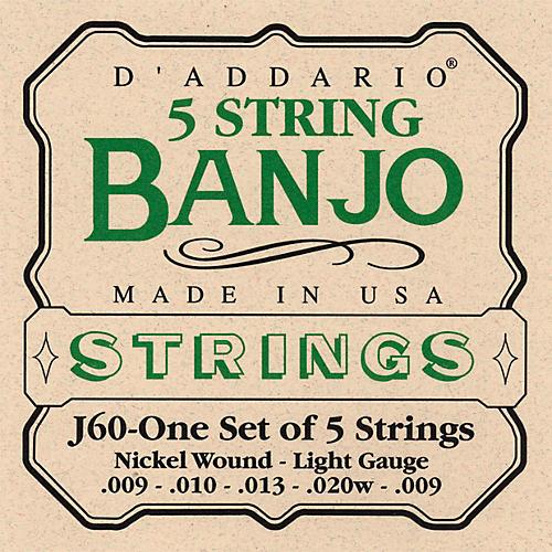D'Addario J60 5-String Banjo Strings-thumbnail