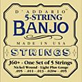 D'Addario J60+ Nickel Light-Plus Banjo Strings  Thumbnail