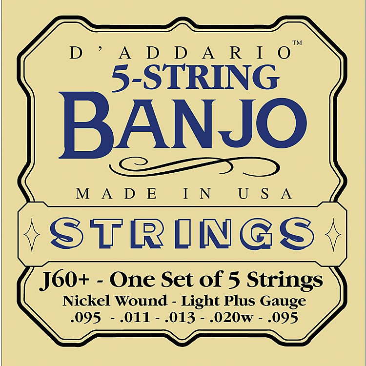 D'AddarioJ60+ Nickel Light-Plus Banjo Strings