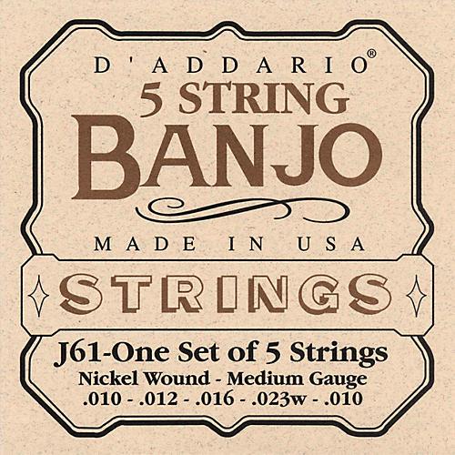 D'Addario J61 5-String Banjo Strings