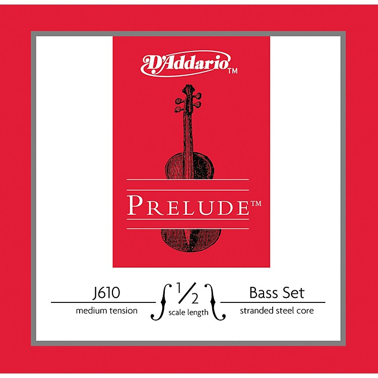 D'AddarioJ610 Prelude 1/2 Bass String SetMedium