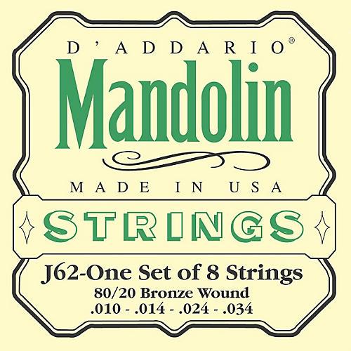 D'Addario J62 80/20 Phosphor Bronze Mandolin Strings