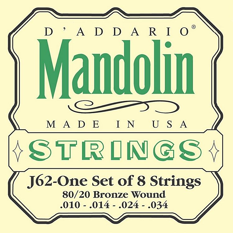 D'Addario J62 80/20 Phosphor Bronze Mandolin Strings