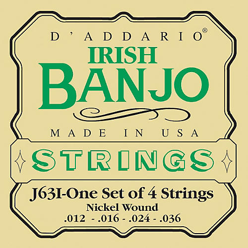 D'Addario J63i 4-String Irish Banjo Strings