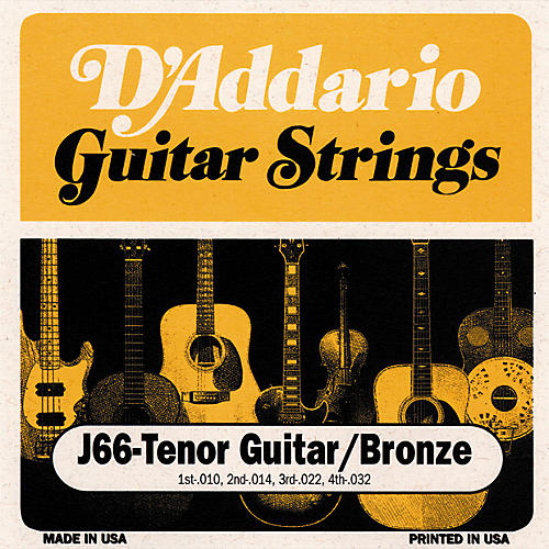 D'Addario J66 80/20 Tenor Guitar Strings-thumbnail