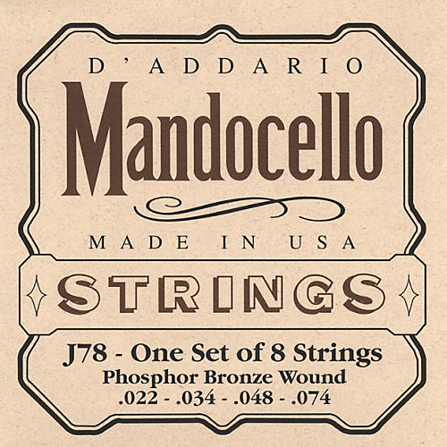 D'Addario J78 Phosphor Bronze Wound Mandocello String Set