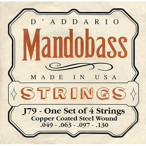 D'Addario J79 Mandobass Copper String Set
