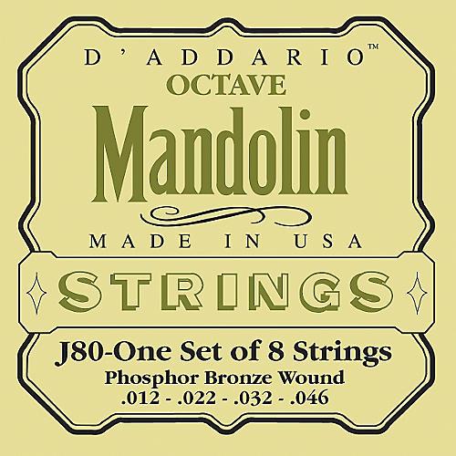 D'Addario J80 Phosphor Bronze Octave Mandolin Strings
