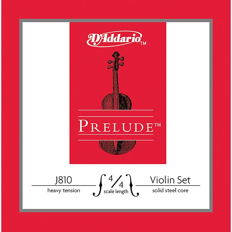 D'Addario J810 Prelude 4/4 Violin String Set Heavy