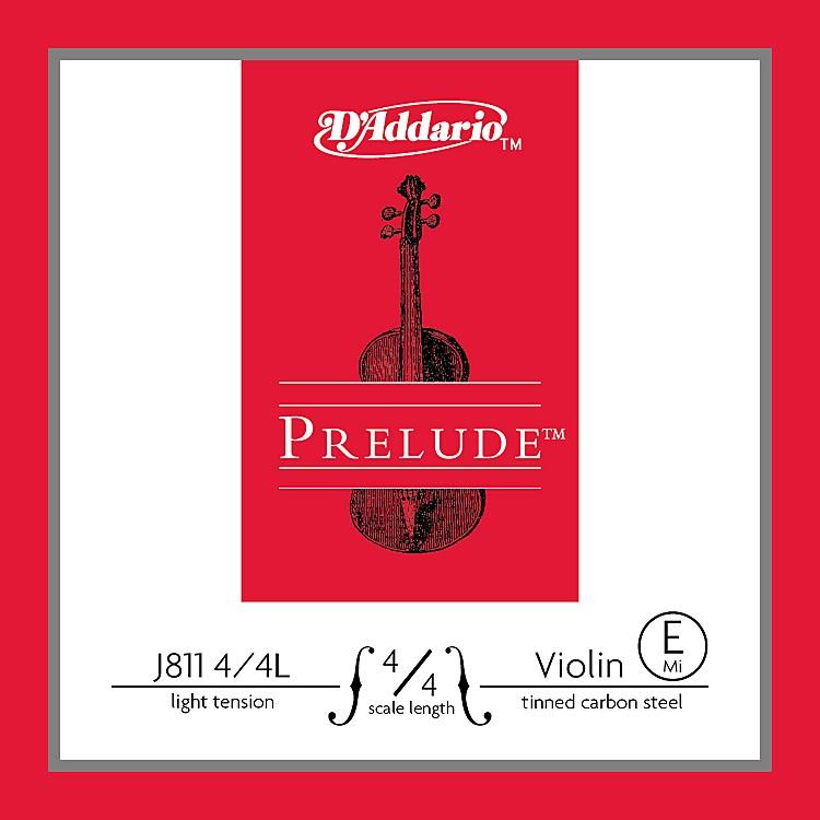 D'AddarioJ811 Prelude 4/4 Violin Single E String Plain SteelLight